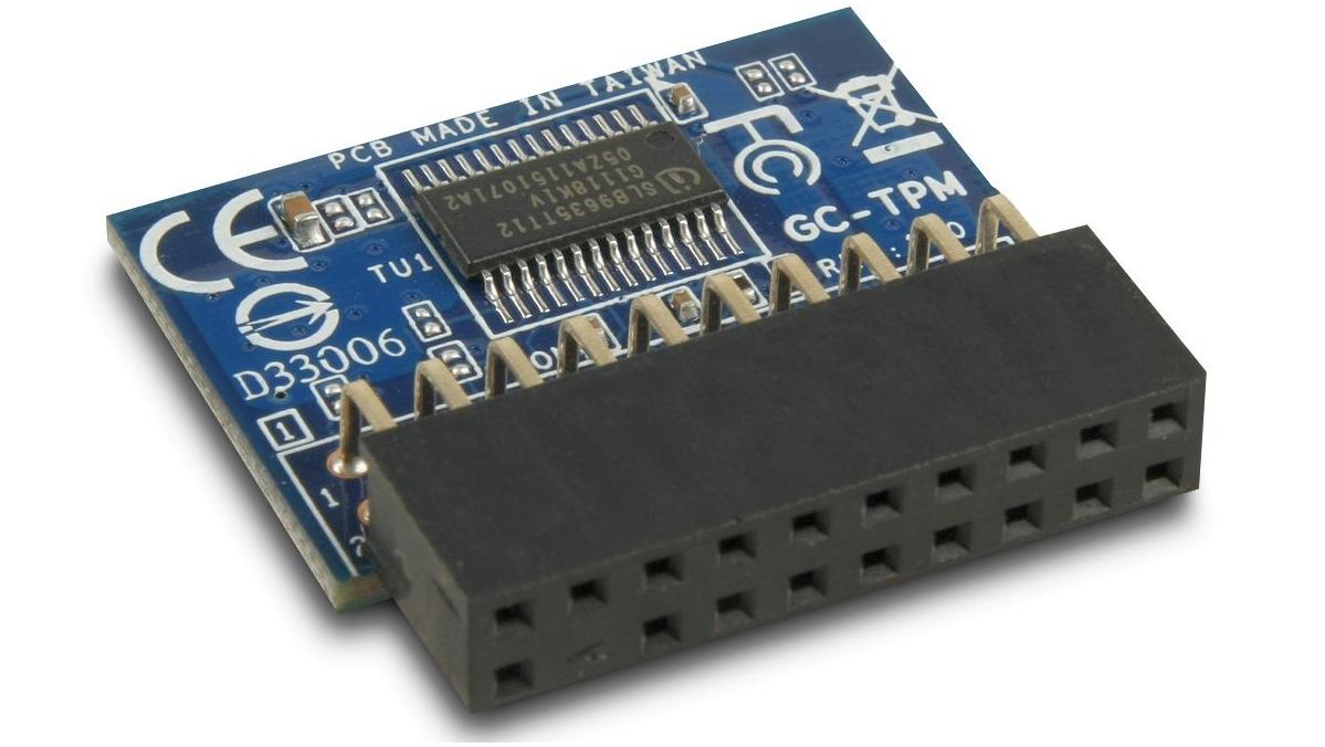 A close up of a TPM module