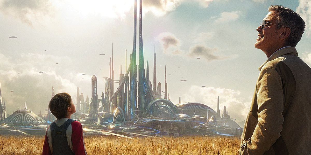 Tomorrowland poster with George Clooney