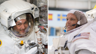NASA astronauts Kjell Lindgren (left) and Bob Hines (right) will fly on the SpaceX Crew-4 mission to the International Space Station.