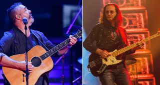 Ed Robertson (left) and Geddy Lee