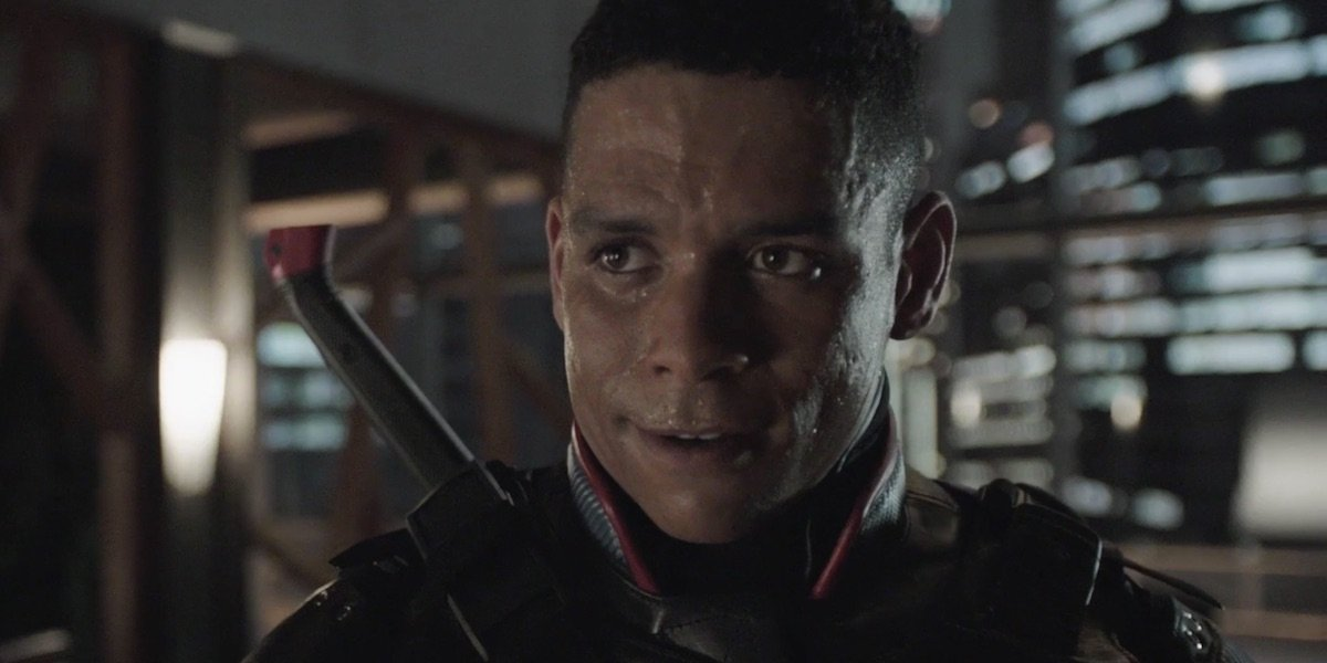 Charlie Barnett as JJ, the new Deathstroke, on Arrow