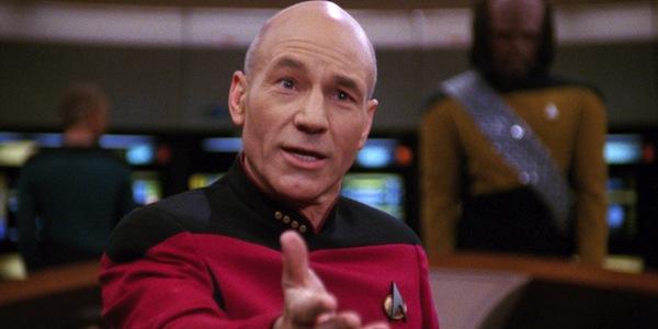 Capt Jean-Luc Picard Patrick Stewart Star Trek: The Next Generation CBS