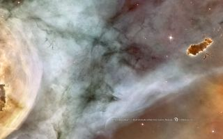 The Caterpillar, a Bok Globule in the Carina Nebula