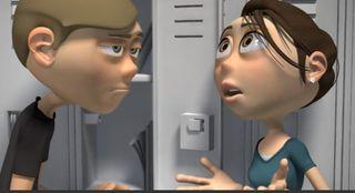 Boy and girl CG characters