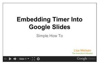 Improve Presentations - Embed timer into Google Slides | Tech & Learning