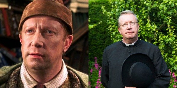 Mark Williams as Arthur Weasley in Harry Potter movies and Father Brown
