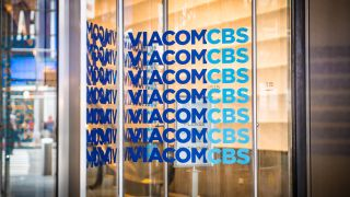 Signage at the ViacomCBS Inc. headquarters in New York on Sunday, Feb. 9, 2020.