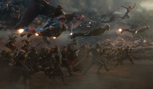 The Avengers charge in Avengers: Endgame