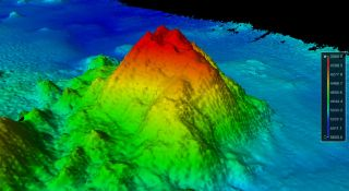 newly discovered Pacific Ocean seamount.