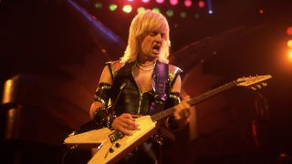 K.K. Downing performing live