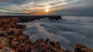 grand canyon clouds