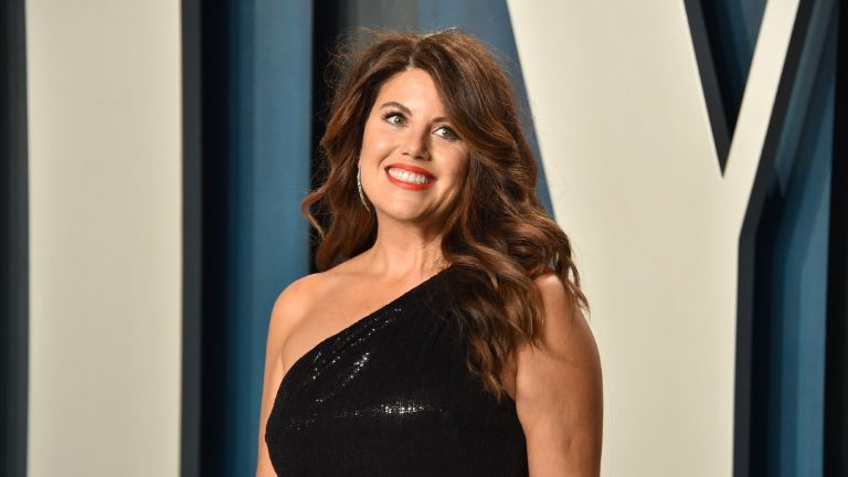 Monica Lewinsky smiling at an awards ceremony