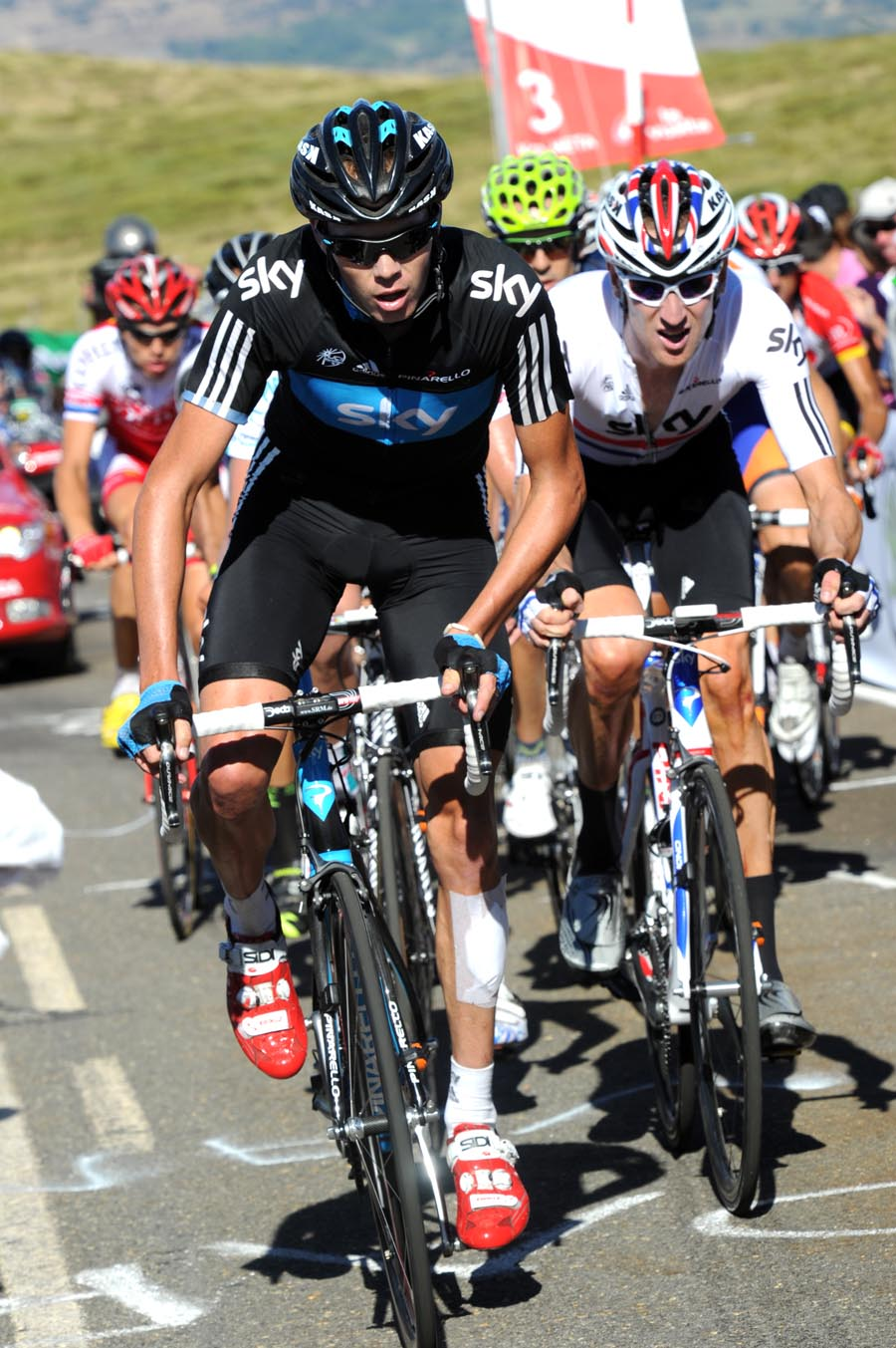 Chris Froome and Bradley Wiggins, Vuelta a Espana 2011, stage nine
