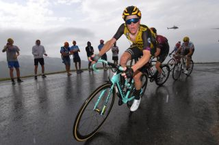 Jumbo-Visma's Steven Kruijswijk climbs during stage 15 of the 2019 Tour de France, en route to an eventual third overall in Paris
