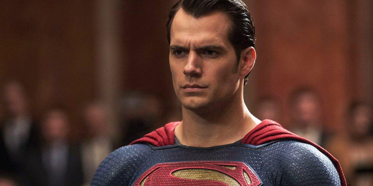 Henry Cavill as Superman in superhero suit