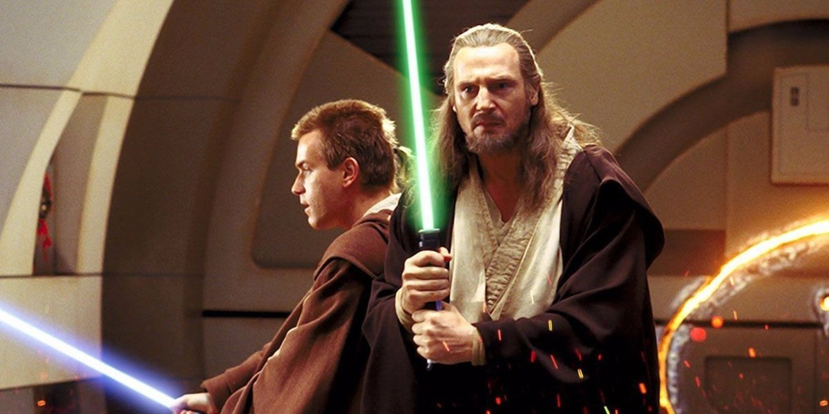 Liam Neeson as Qui-Gon Jinn and Ewan McGregor in Star Wars: Episode I - The Phantom Menace