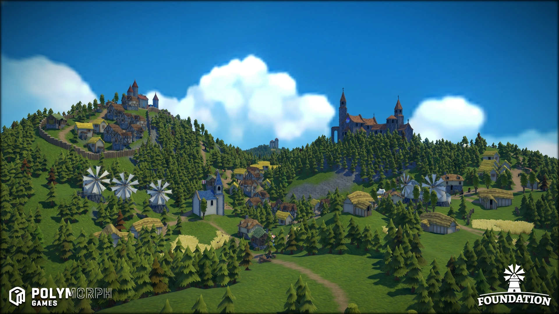 Foundation is a freeform medieval city builder with no grids to
