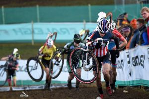 Katie Compton leads, National Trophy Cyclo-Cross, Milton Keynes 2014