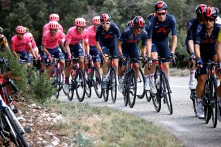 Richard Carapaz and Ineos Grenadiers at stage 12 of the Tour de France