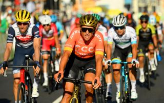 CCC Team's Greg Van Avermaet leads home the chase group for fourth place on stage 2 of the 2020 Tour de France