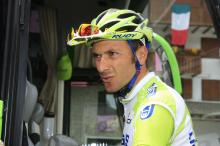Ivan Basso at the start of stage 18