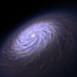Supercomputer simulations have revealed that spiral galaxies grow their arms due to perturbations in their formation disks.