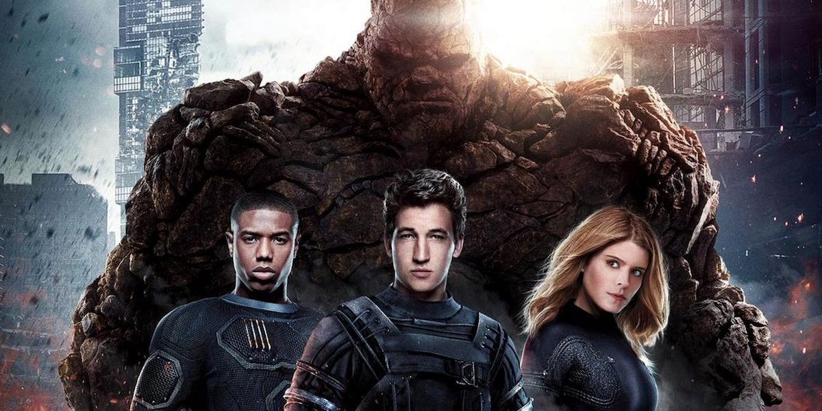 The cast of 'Fantastic Four' in a promotional image for the movie