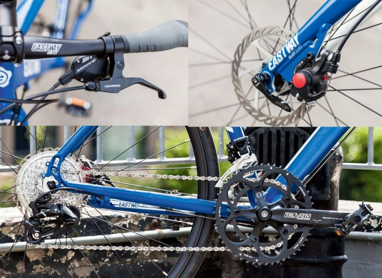A wide range of gears and AVID disc brakes are good additions to the Eastway frameset
