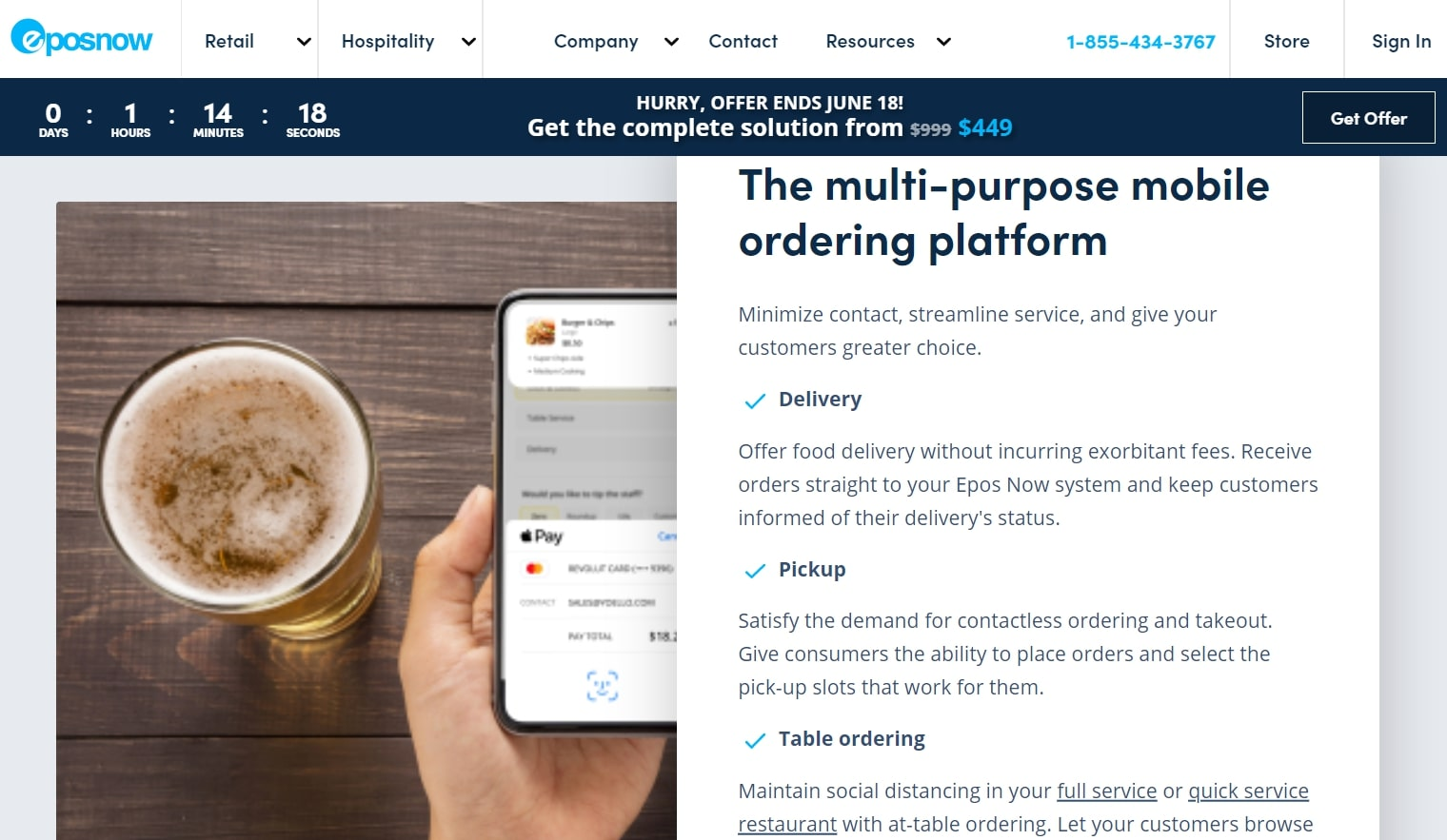Epos Now Order & Pay features page