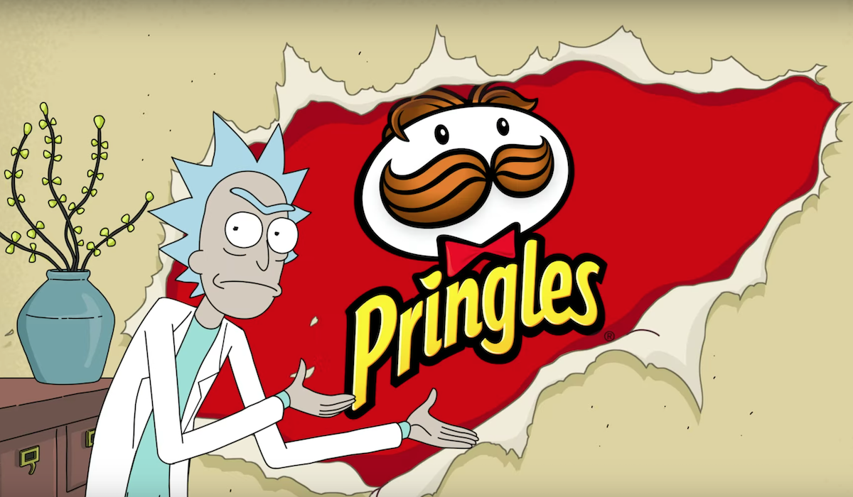 rick and morty pringles commercial