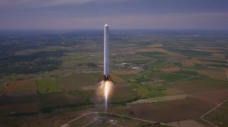 SpaceX's Falcon 9R Reusable Rocket Prototype