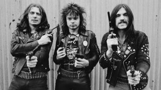 'Fast' Eddie Clarke, Phil 'Philthy Animal' Taylor and Lemmy
