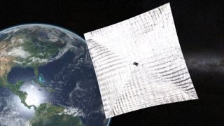 An artist's depiction of The Planetary Society's LightSail 2.