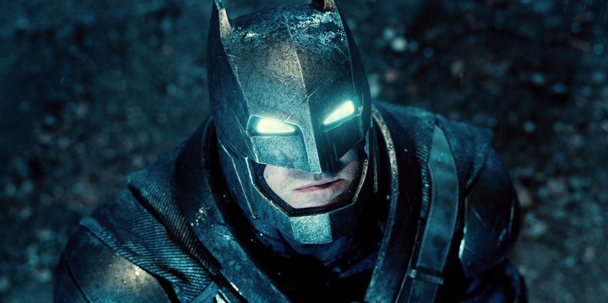 Ben Affleck as armored Batman