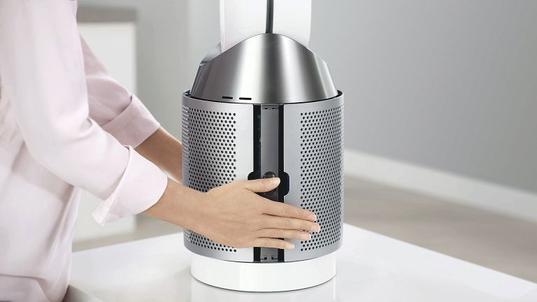 Dyson Pure Cool purifying fan (desktop left, floor-standing right)