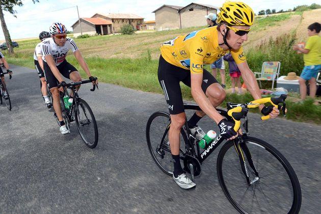 Bradley Wiggins and Edvald Boasson Hagen, Tour de France 2012, stage 10