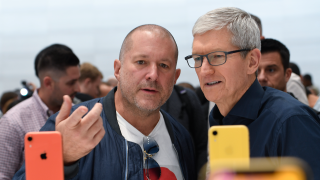 Jony Ive and Apple CEO Tim Cook