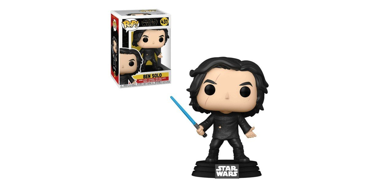 Ben Solo With Blue Lightsaber Funko Pop Figure