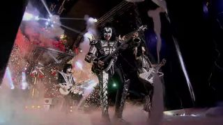 A still from the Kiss video