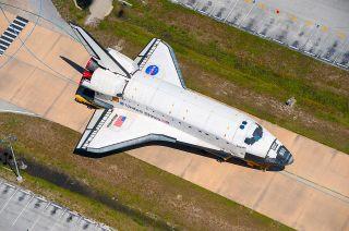 Shuttle Atlantis During Move