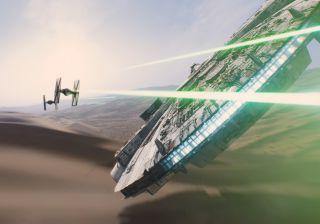 Millennium Falcon in 'The Force Awakens'