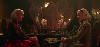 Kiernan Shipka sees double in the Chilling Adventures of Sabrina Season 4 trailer