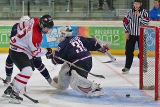 USA vs. Canada in Innsbruck, Austria, hockey, concussion