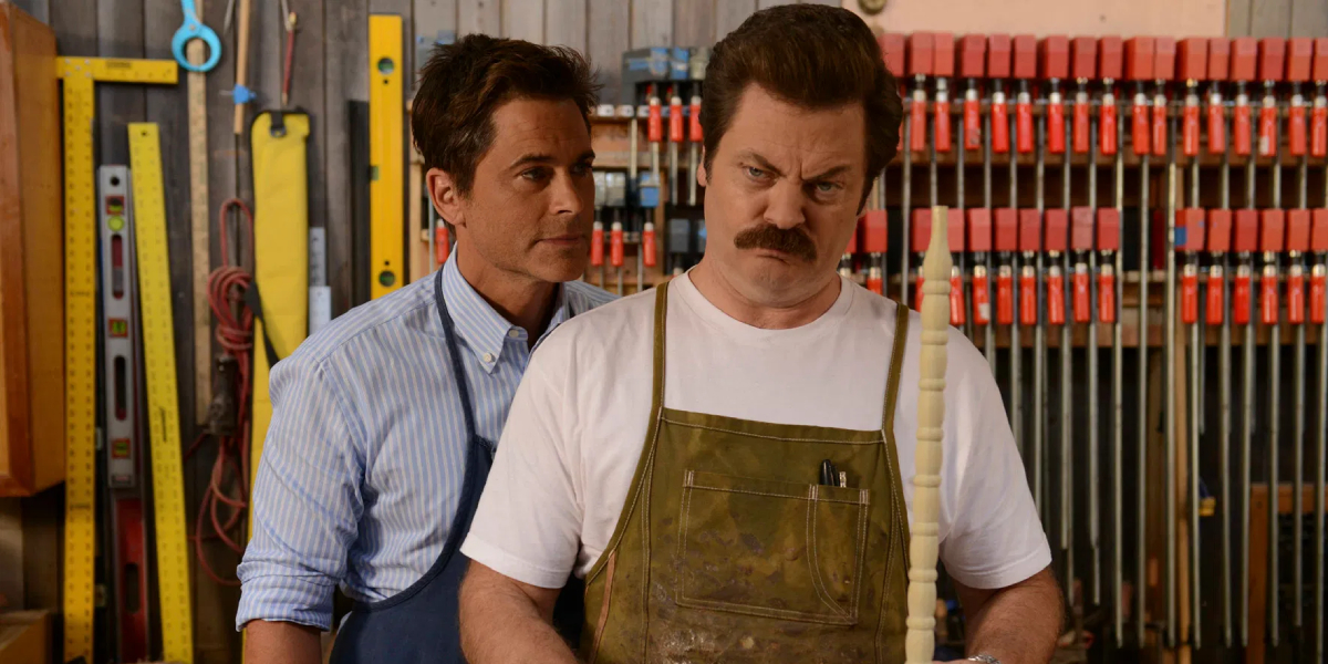 Rob Lowe and Nick Offerman on Parks and Recreation