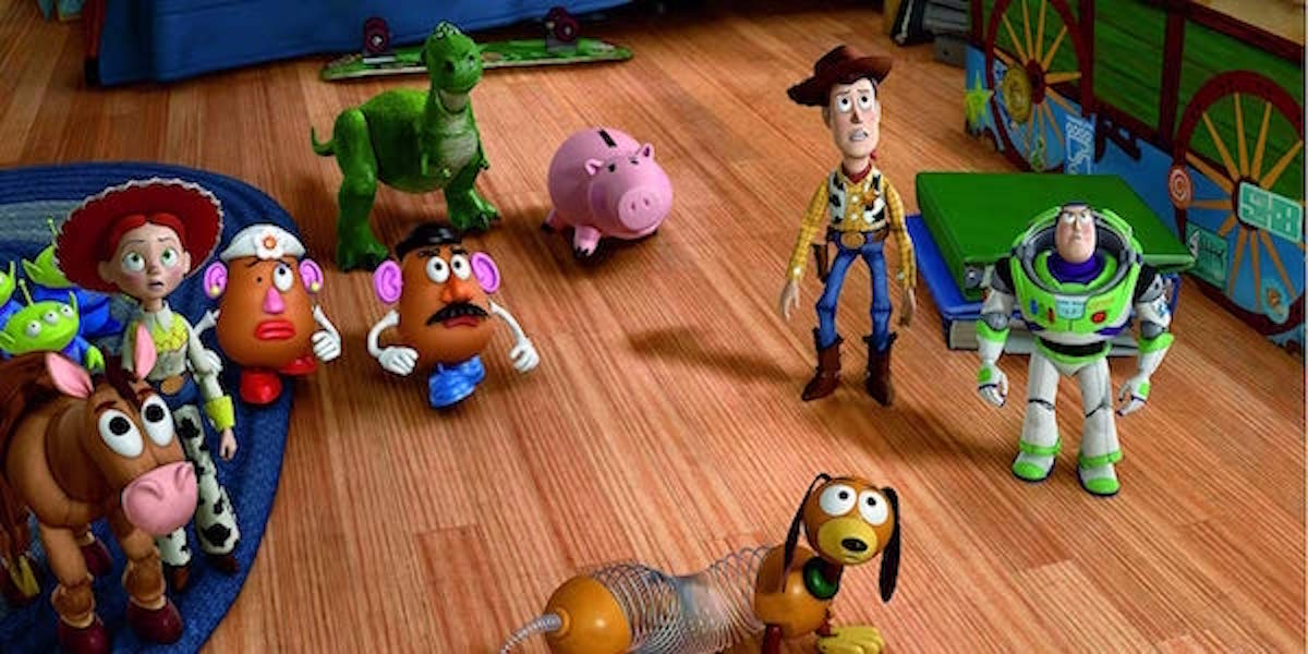 The toys of Toy Story