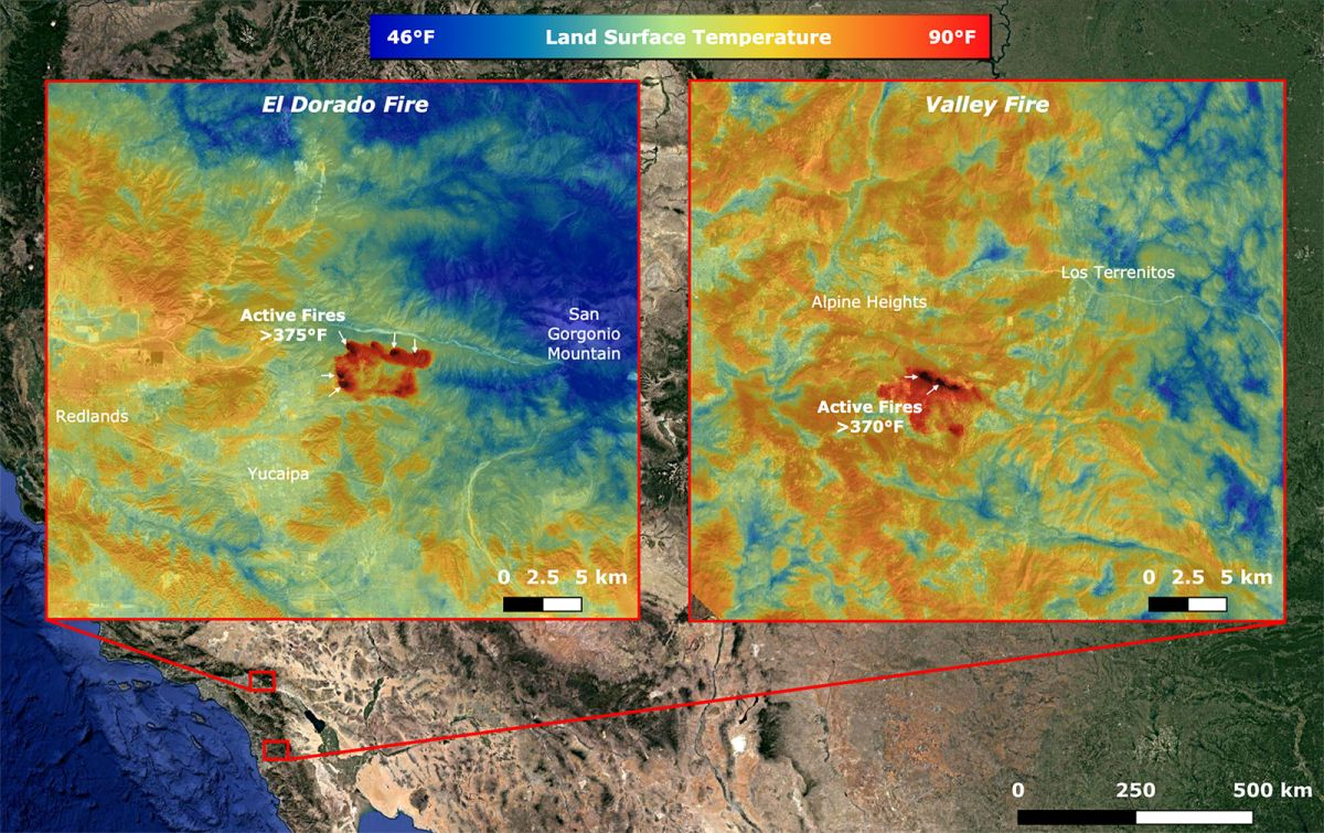 Satellites monitor California wildfires from space (photos) – Space.com