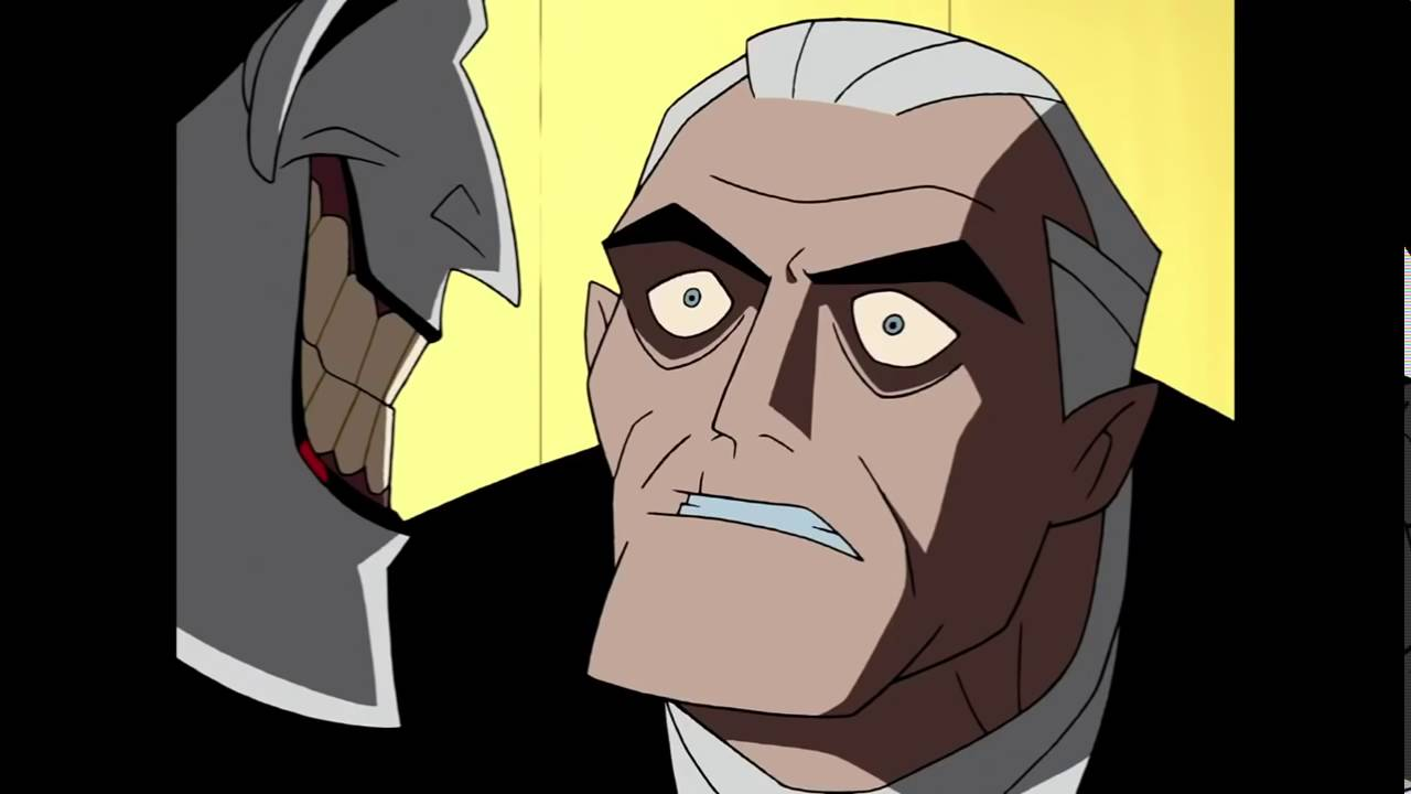 old bruce wayne and joker batman beyond