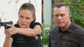 Chicago P.D.'s Tracy Spiridakos And Jason Beghe Talk Upton And Voight's Big Secret, Halstead's Role And More