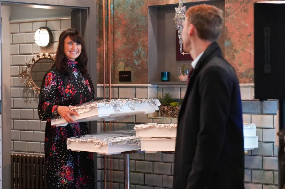Jay has sorted caterers for Honey Mitchell in EastEnders