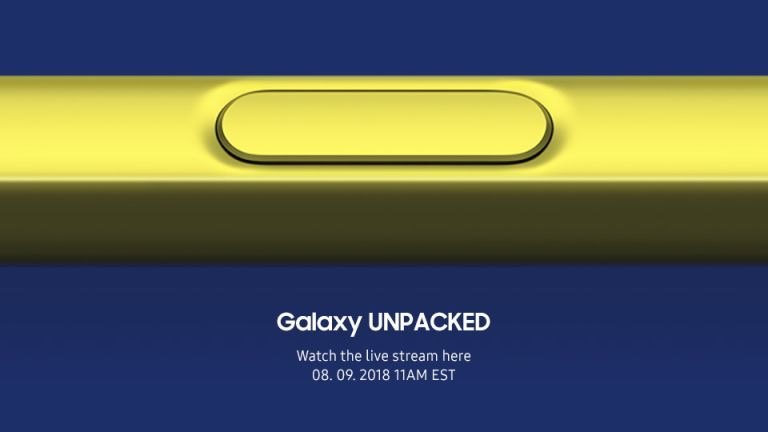 Samsung Galaxy Unpacked event Note 9